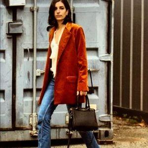NWOT corduroy and leather blazer